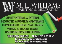 ML Williams Painters & Decorators of Harpenden - Harpenden Based Painter and Decorator with over 26 Years experience. Call Martin today on 01582 764978 Mobile 07812 213036