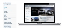 Content managed dealership web site - Concrete 5 content management makes everyday maintenance easy for Mercedes-Benz van and truck dealer.